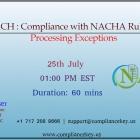 2019 ACH : Compliance with NACHA Rules w