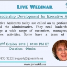 Leadership Development for Executive Ass