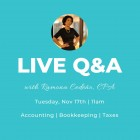 Accounting, Finance, & Taxes: Live Q&A