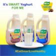 Coconut fruit-soymilk yoghurt